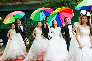 227 pairs of newlyweds attend group wedding ceremony in Guangzhou